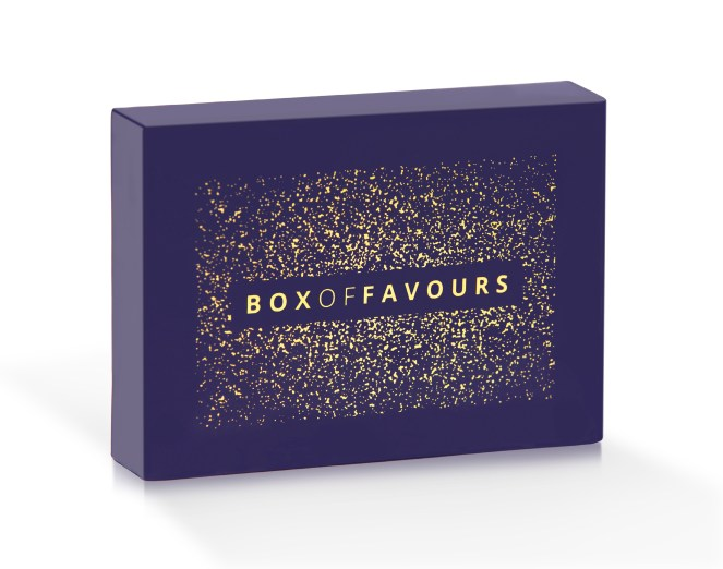 Gift guide option, purple Box of favours