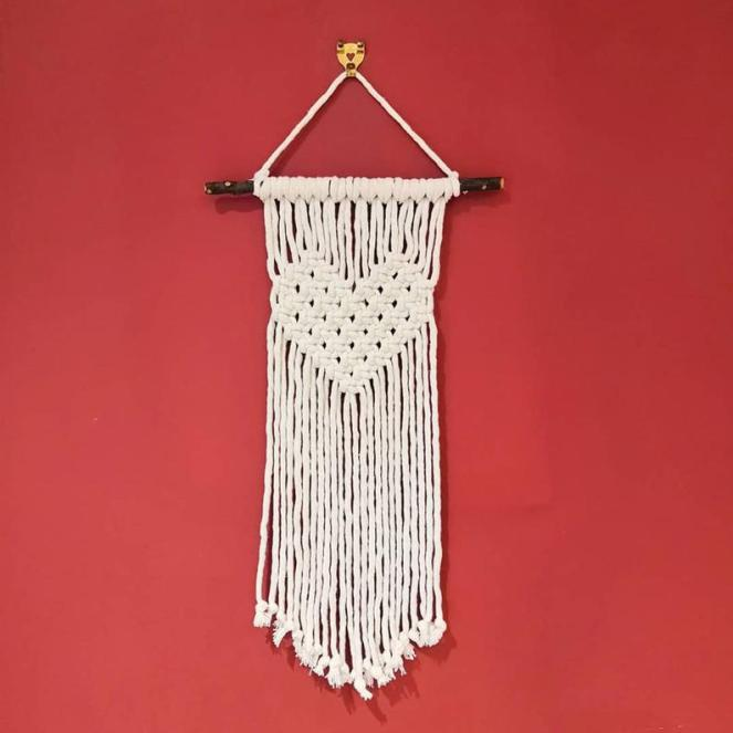 Introducing HoeBow Designs Product Handmade Sweetheart Cotton Macrame Wall Hanging