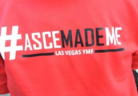 "Dianna Feica sporting a custom made ""ASCE MadeMe"" hoodie!"