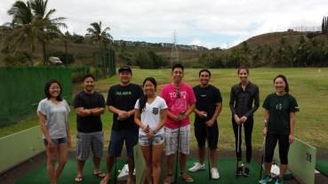 Hawaii YMF members working on their golfing skills