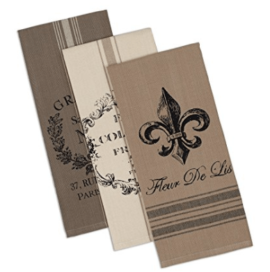"""DII Cotton French Grain Sack Dish Towels, 18 x 28"""" Set of 3, Decorative Oversized Kitchen Towels for Everyday Cooking and Baking"""