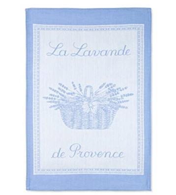 Coucke French Jacquard Cotton Kitchen Dish Towel French Table Collection, Lavande PJ, 20-Inches by 30-Inches, Lavender