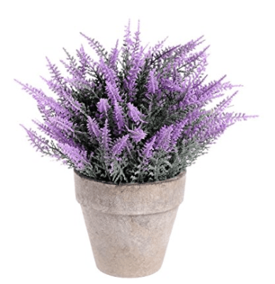 Supla 1pcs Artificial Boxwood Topiary Artificial Top Plant in Planter Faux Plant Topiary Fake Purple Topiary Plants Potted Plant with pot Mini Plastic Plants in Weathered Pot for Home Decor (purple)