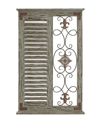 Deco 79 Wood Metal Wall Panel, 26 by 40-Inch
