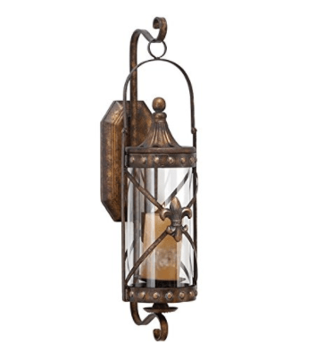 Deco 79 68391 Metal & Glass Candle Sconce