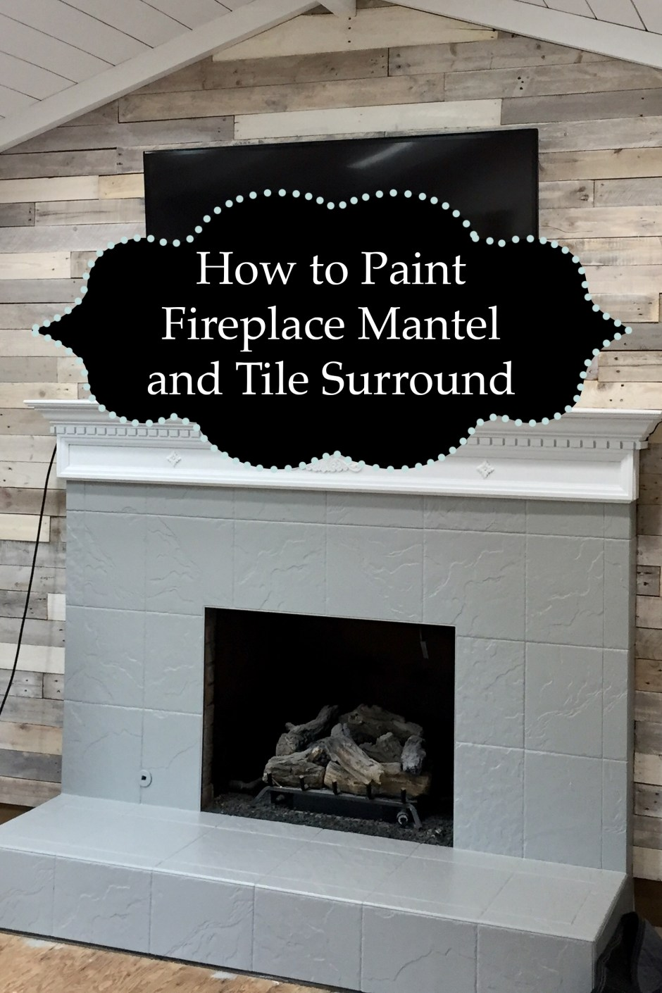 Phenomenal How To Paint Fireplace Mantel And Tile Surround The Kelly Download Free Architecture Designs Ferenbritishbridgeorg