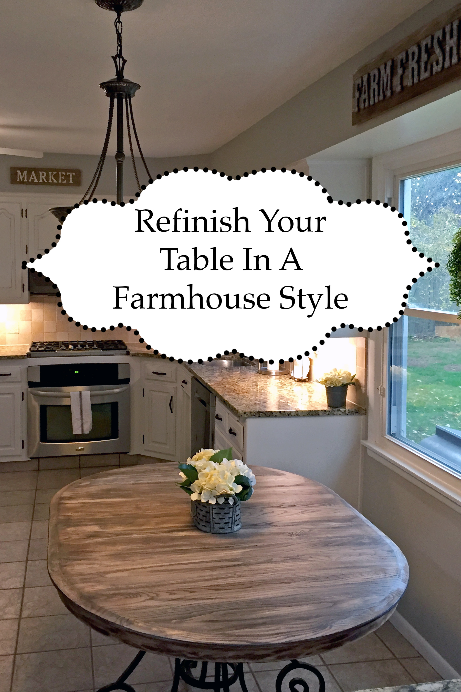 Refinish Kitchen Table in Farmhouse Style  The Kelly