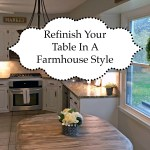 Refinish table in farmhouse style