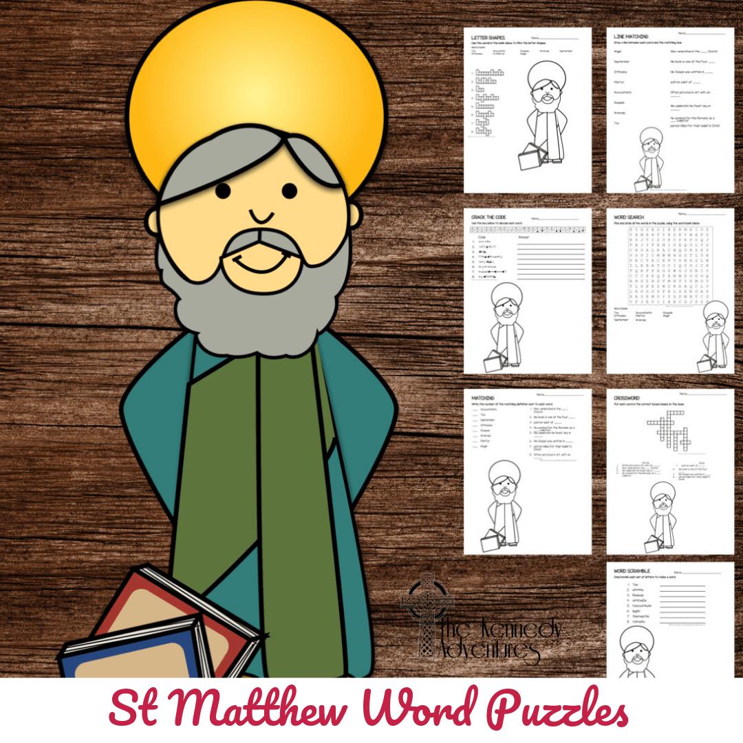 Catholic Saint Word Puzzles