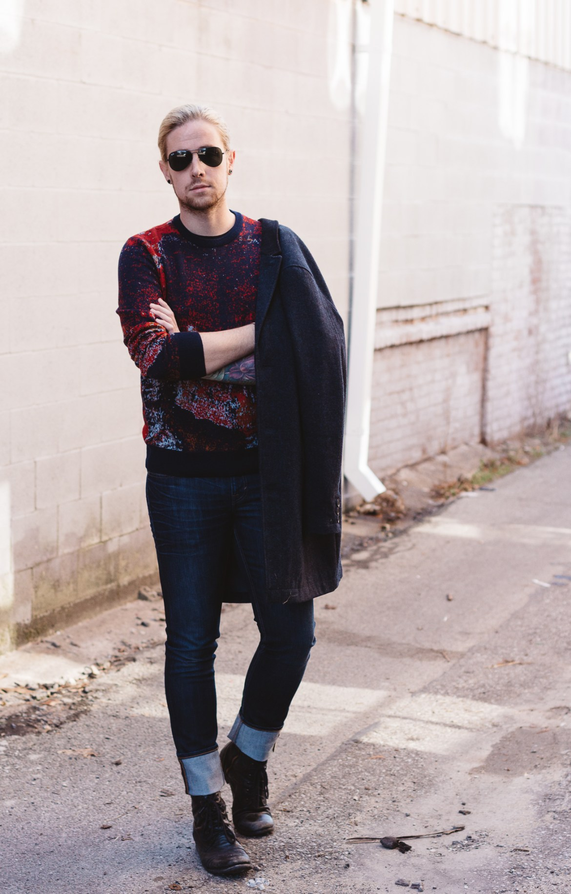 perry ellis, mens christmas sweaters, topman, dstld jeans, how to wear a christmas sweater