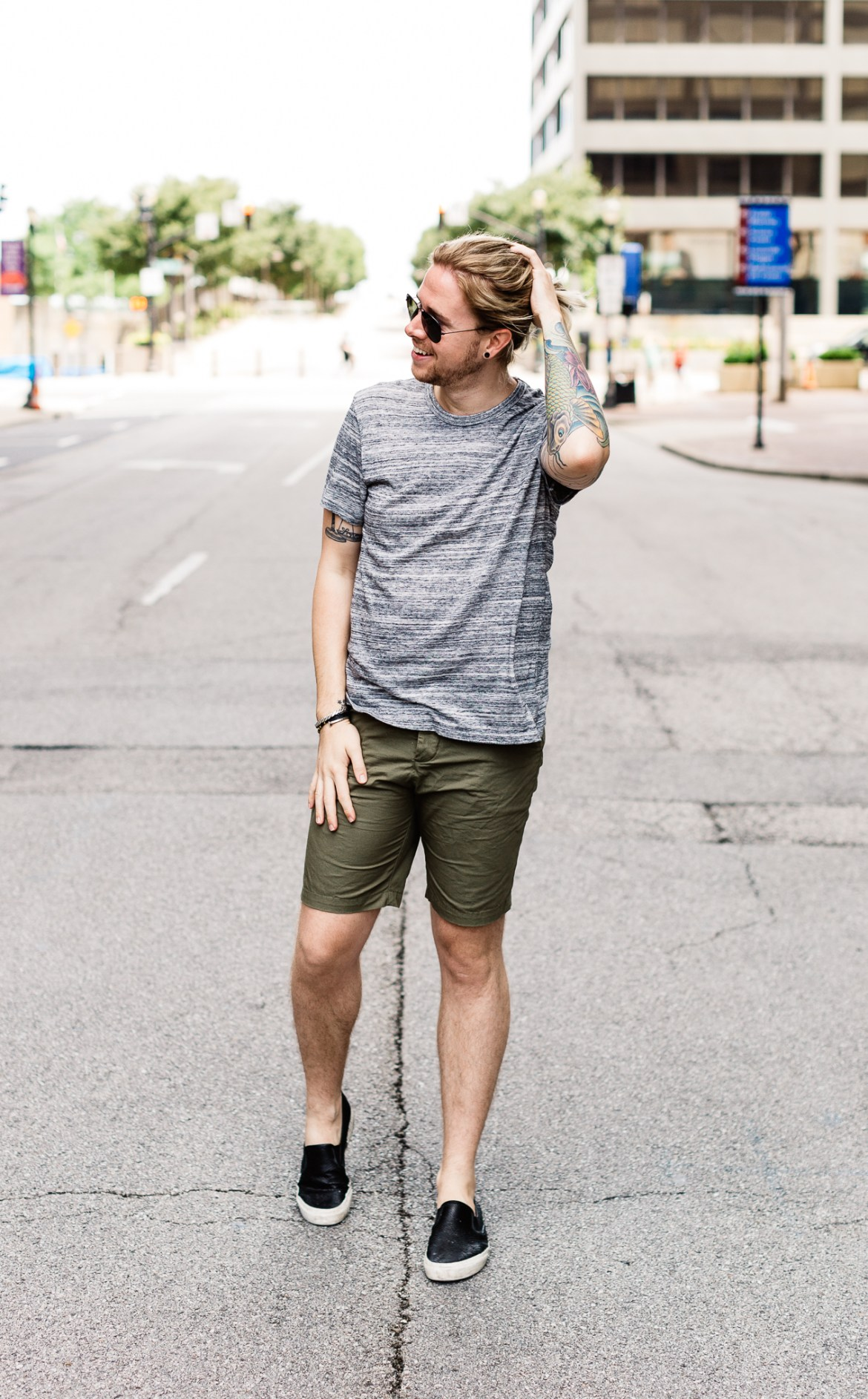 hm mens clothing, mens personal style blog, mens fashion blog, alternative apparel, olive shorts