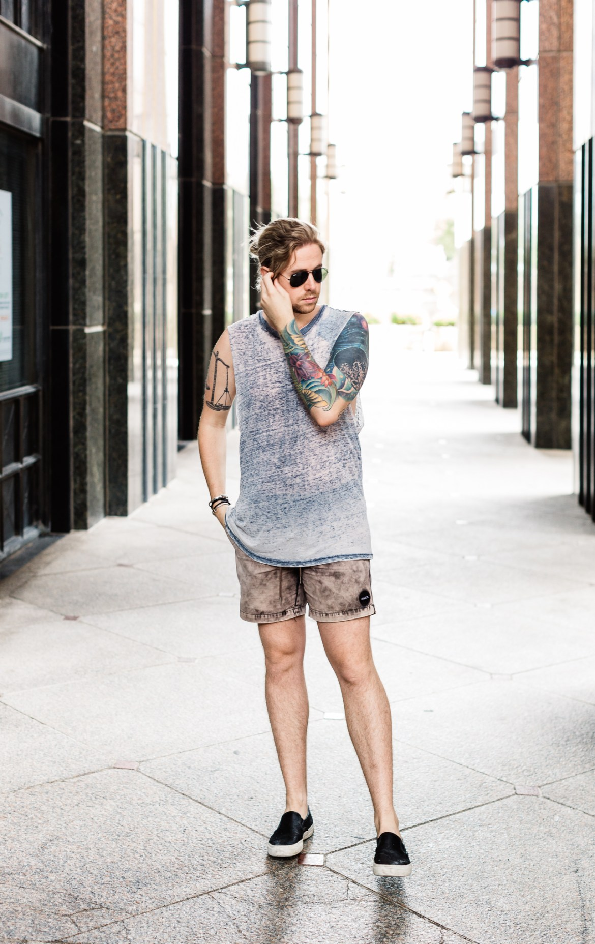 rvca shorts, urban outfitters tank top, mens urban outfitters clothing, mens style blog, kentucky blogger