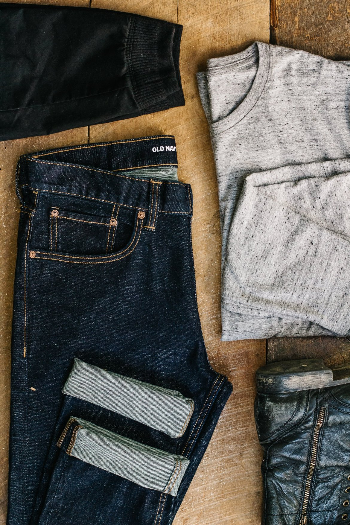 old navy, mens old navy tees, never basic, mens outfit flat lays