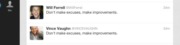 And now Will is not a good enough Twitter slave?  He must improve.  Oh, the humanity! Free Will(y)! Circa April 23, 2013