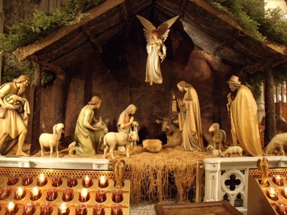 The Nativity Scene at St. Patrick's Cathedral in New York City, NY
