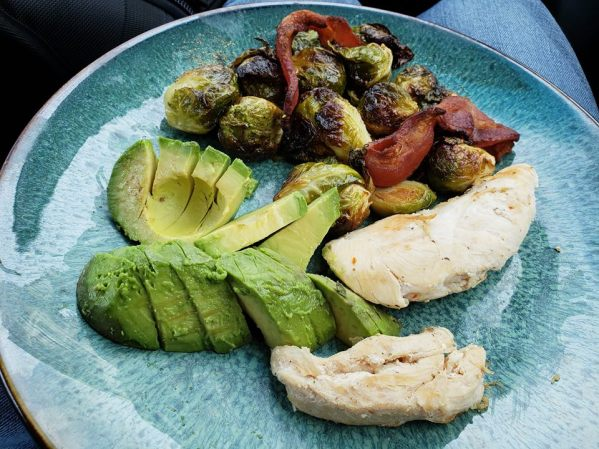 Chicken Brussel and avocado