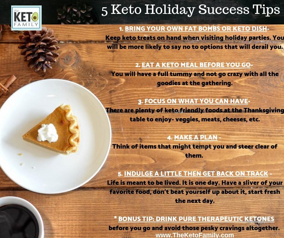5 Keto Holiday Success Tips