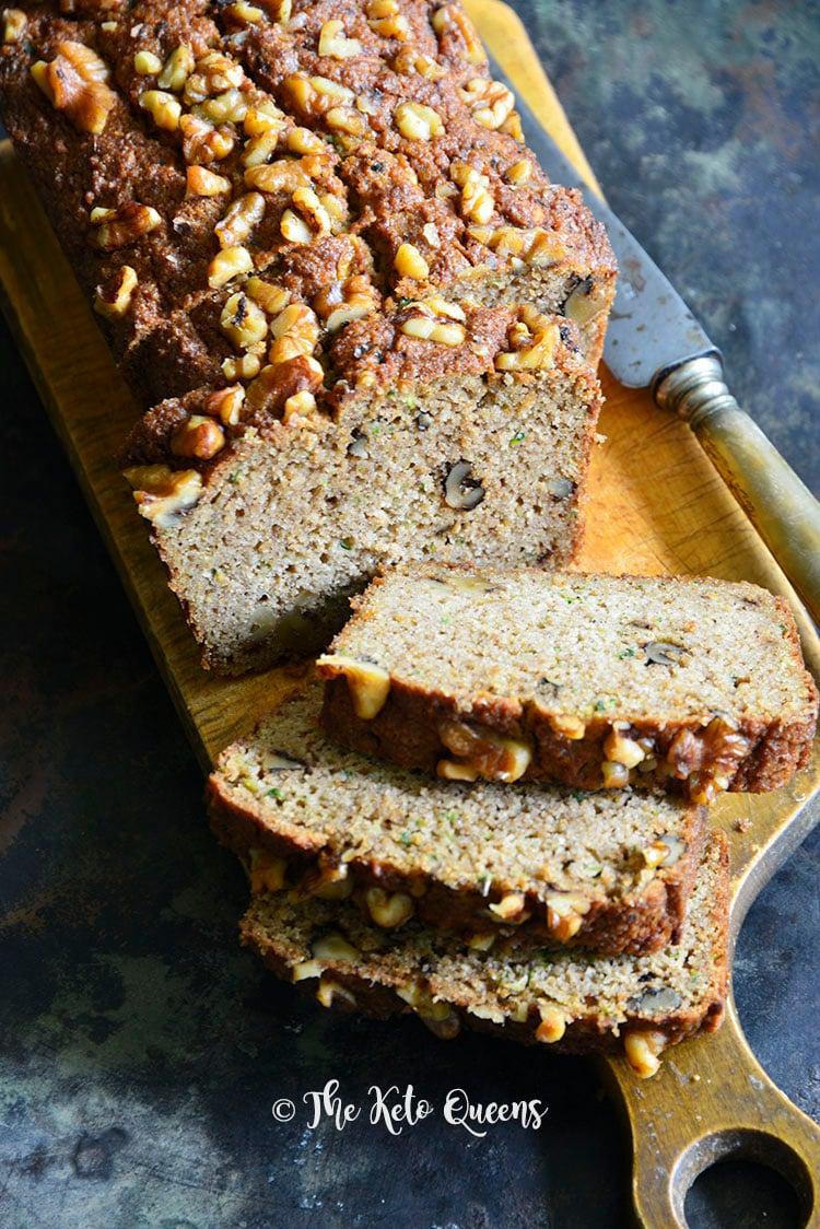 Easy Low Carb Zucchini Bread Recipe
