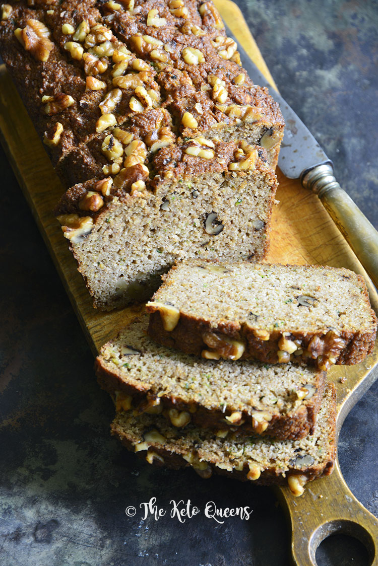 This Easy Low Carb Zucchini Bread Recipe is the perfect treat when you want a baked good while keeping your carbs down. #keto #lowcarb #ketorecipes #lowcarbrecipes