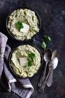 2 Bowls of Instant Pot Keto Creamy Garlic Broccoli Mash