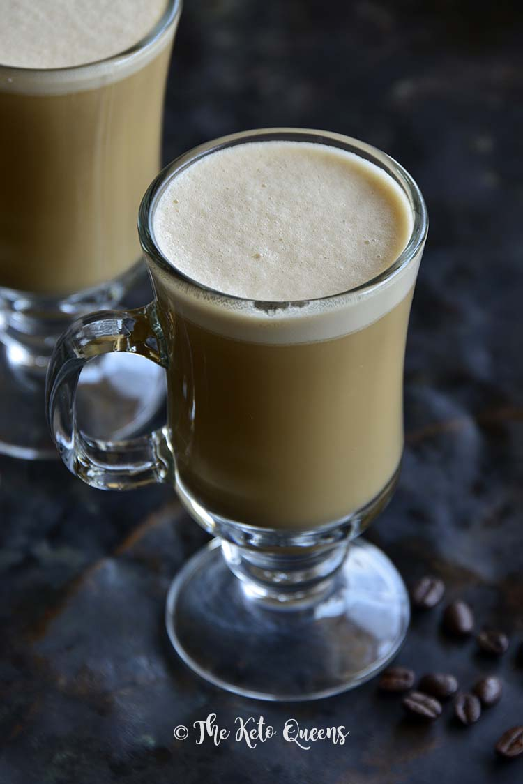 Front View of Keto Vanilla Cream Bulletproof Coffee