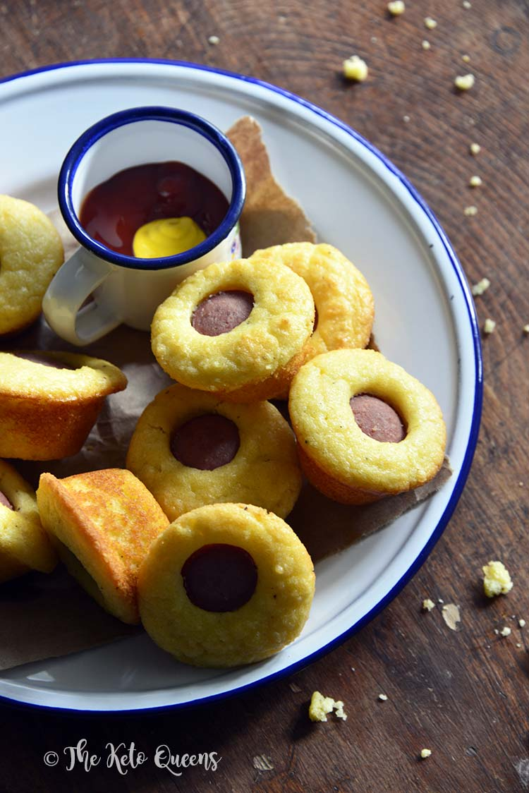 Low Carb Corn Dog Bites Recipe Kid Friendly Keto Snack