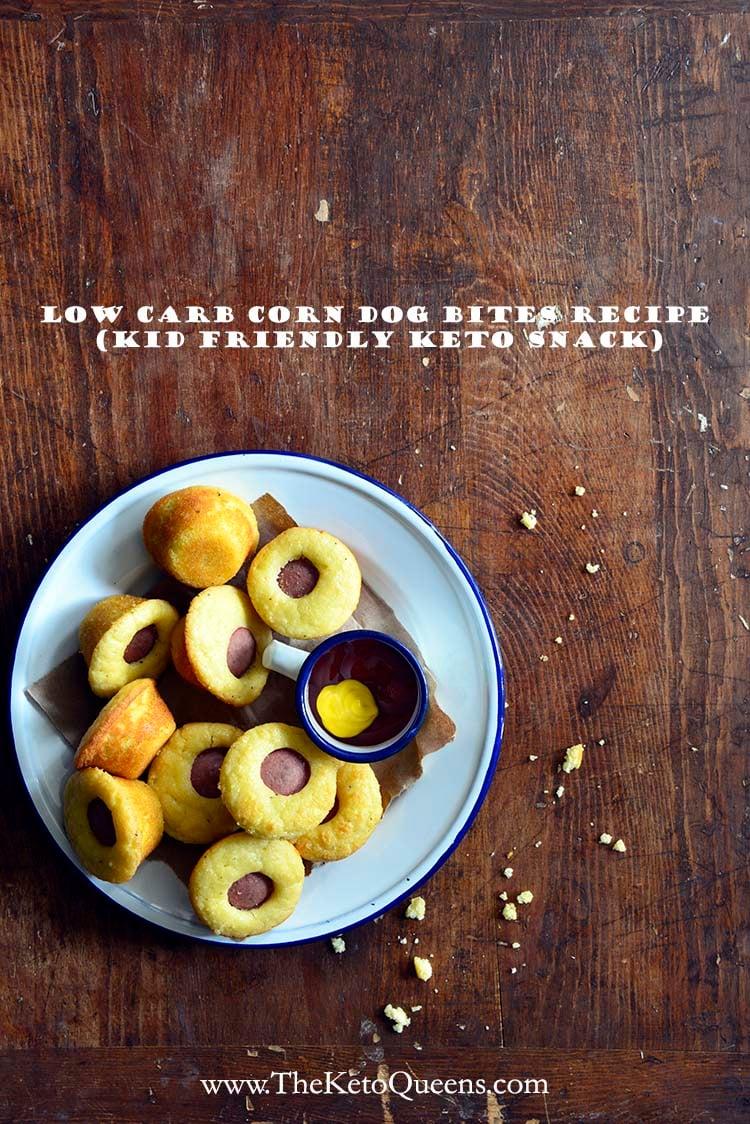 Low Carb Corn Dog Bites Recipe (Kid Friendly Keto Snack) with Description