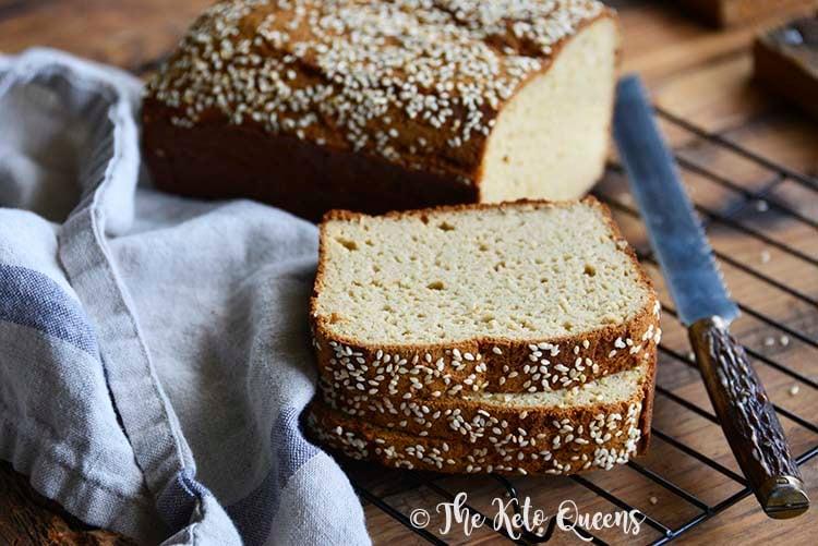 Slices of The Best Keto Bread Recipe