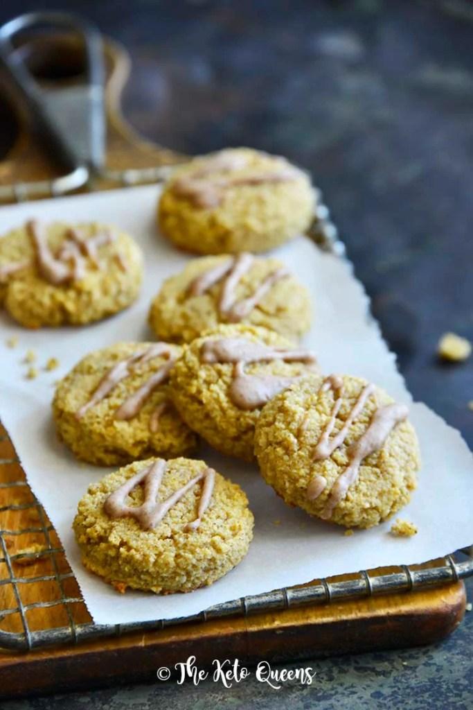 Best Pumpkin Spice Snickerdoodle Cookie Recipe (Keto, Gluten Free) Front View