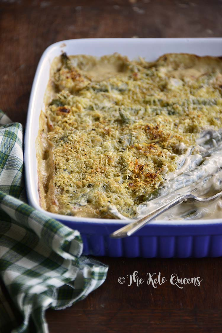 Front View of Low Carb Instant Pot Green Bean Casserole Recipe
