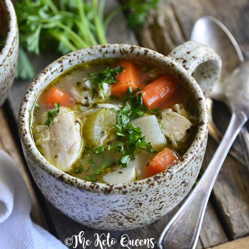 The Best Leftover Chicken Bone Broth Soup Recipe The Keto Queens