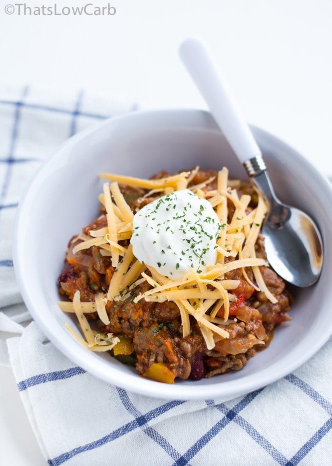 slow cooker no bean chili recipe