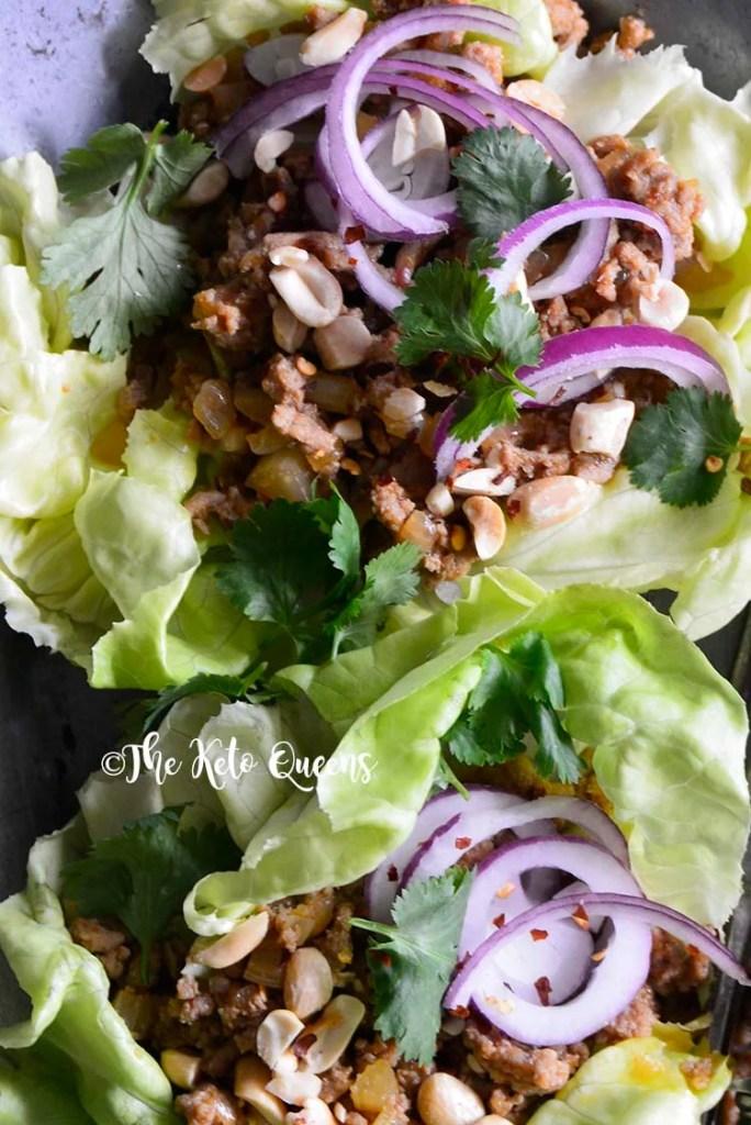 Quick and Easy Thai Turkey Lettuce Wraps.