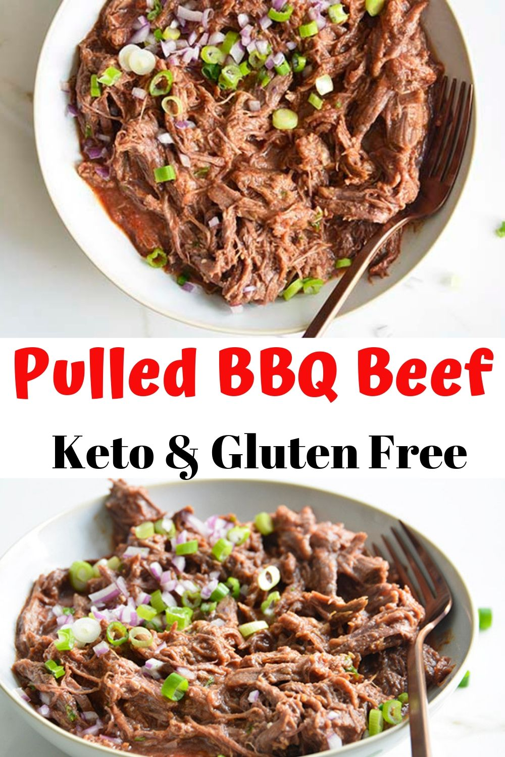 Pulled BBQ Beef is an easy recipe that the entire family will love! Make a large batch in the crockpot or Instant Pot for barbecues and potlucks! The secret ingredient to this shredded BBQ beef is our amazing homemade sugar free BBQ sauce!