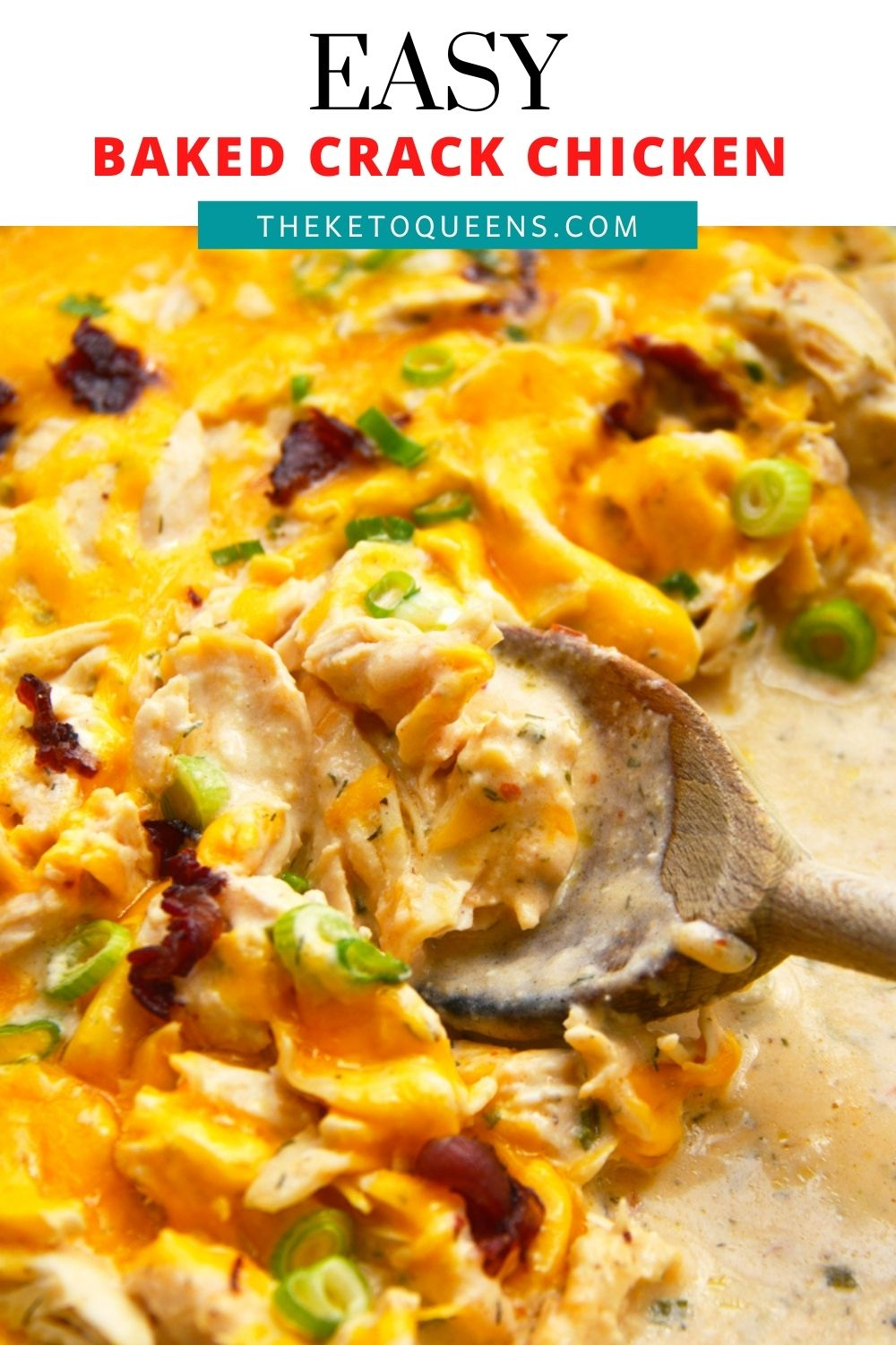This baked crack chicken is a delicious low carb dinner meal! If you are a chicken and cheese lover then this recipe is for you! It is oven baked so it is super easy to make and it makes a delicious dinner or it can also be eaten as a dip.