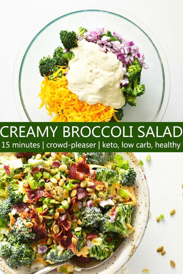 Creamy Broccoli Salad Recipe Pin