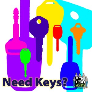 Graphic Design of keys in brigh colors