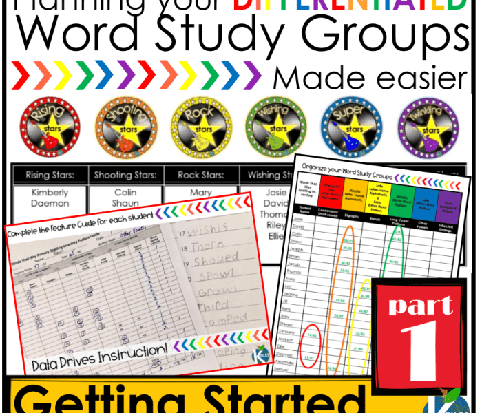 Words Their Way OUR Way PART 1: Getting Started