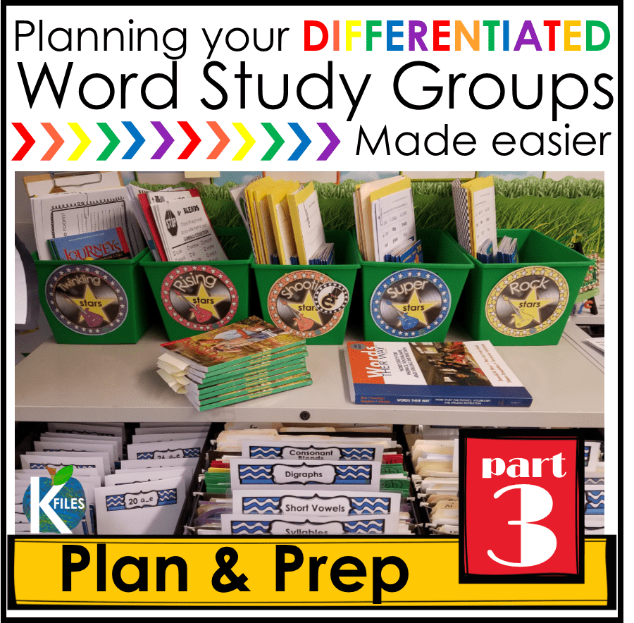 Words Their Way, OUR way Part 3: Planning for Differentiated Word Study Groups