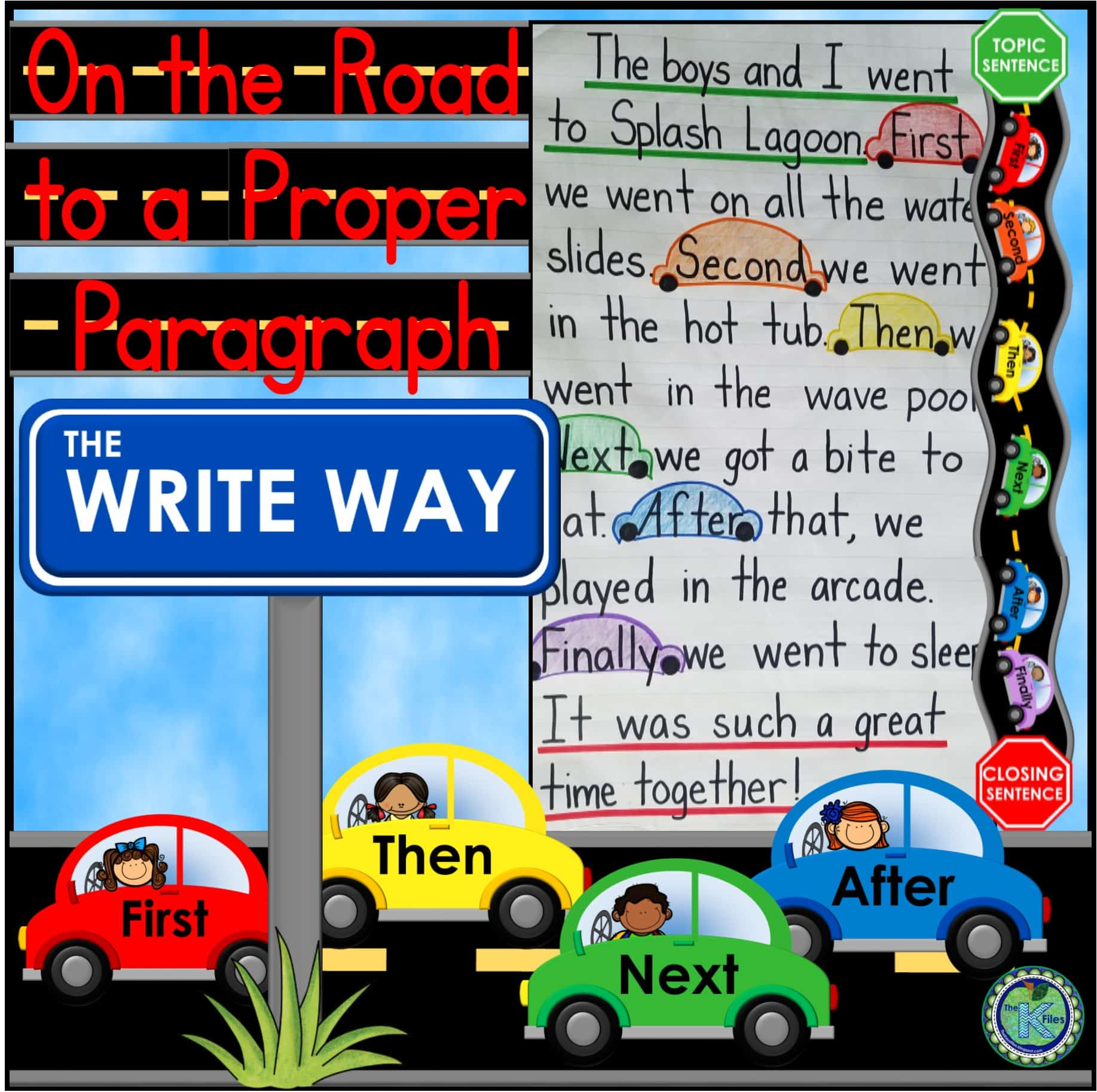 Your students will love using this road map and traffic stoplight for writing a proper paragraph. Included in this resource is everything you need to visually encourage your students to write a paragraph using proper paragraph structure during your Writer's Workshop, Daily 5 Centers and rotations.