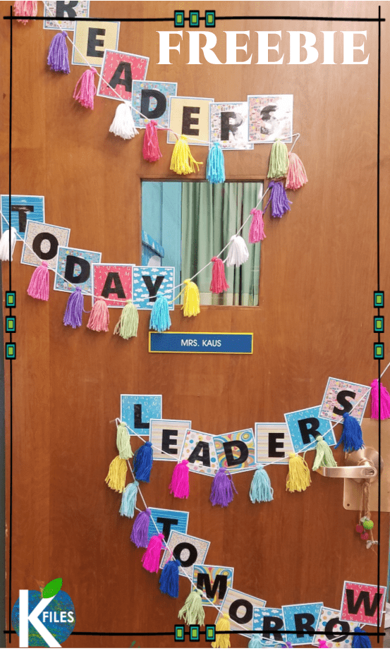FREEBIE: REader's Today, Leaders Tomorrow Bulletin Board Letters for Back to School