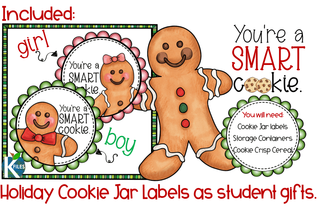 Show your students how proud you are of them with this holiday gift idea. These smart cookie jar labels are perfect for Christmas student gifts or when reading The Gingerbread Boy with your students.