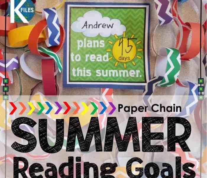 Summer Reading Goals & Paper Chains