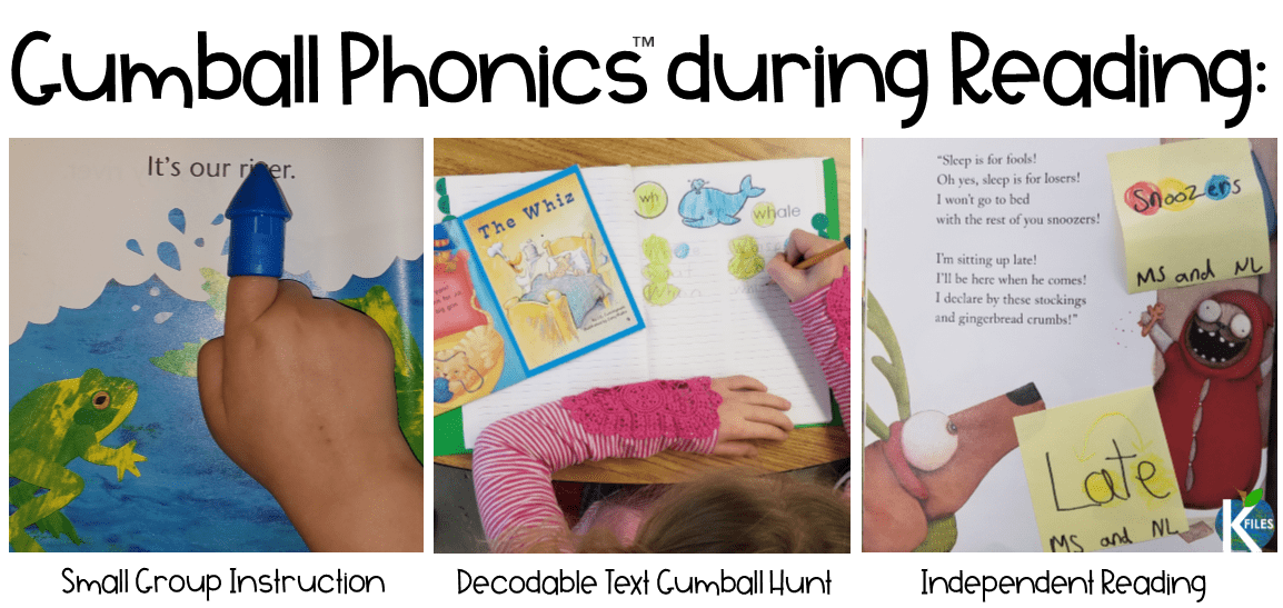 """Phonics Gumballs"": This unique color-coded phonics strategy will keep your young writers and readers engaged and alert for phonics and spelling patterns they are learning in your Word Study program during your literacy block."