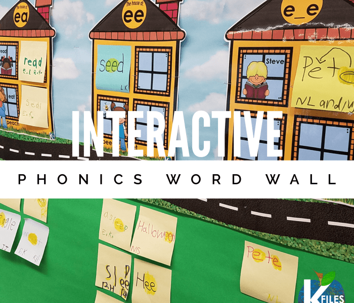 A True Interactive Phonics Word Wall