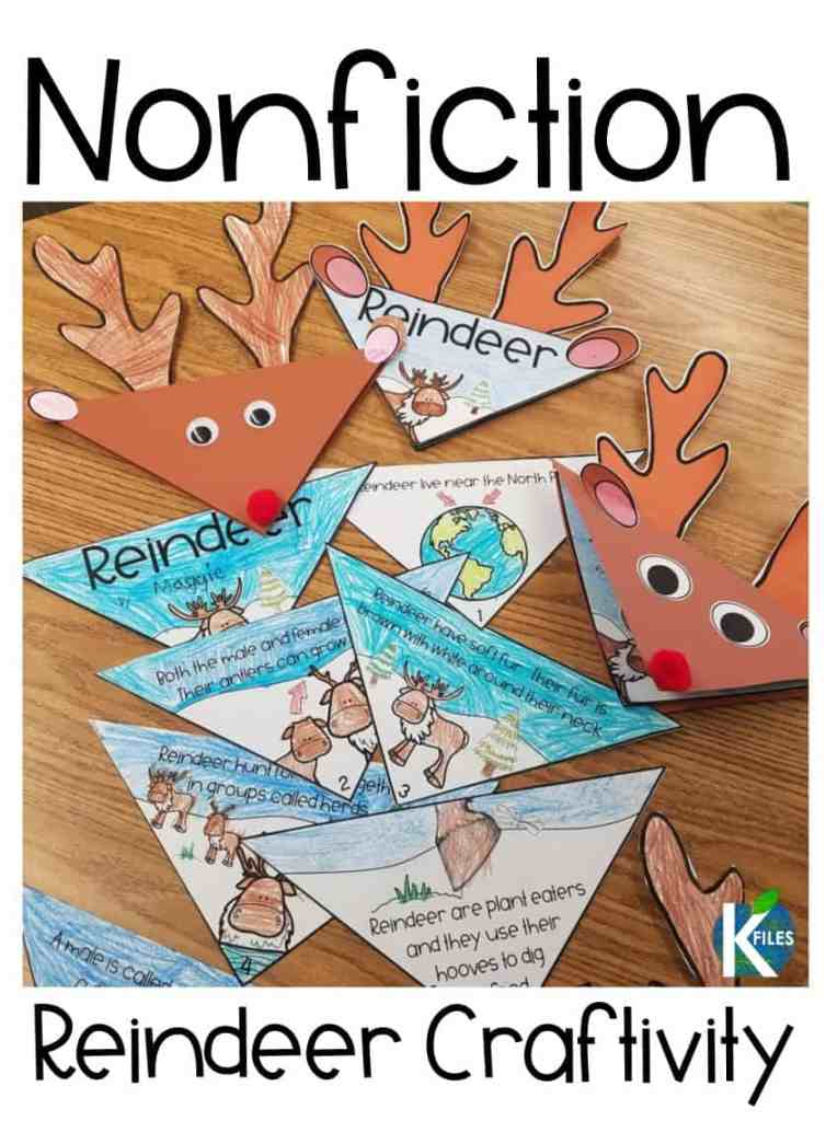 This reindeer craft is perfect for keeping your students engaged during the holidays! Reading this nonfiction text your students will learn all about reindeer and you have the option of decorating the cover so it resembles a Rudolph craft! Its a #teacherwin!