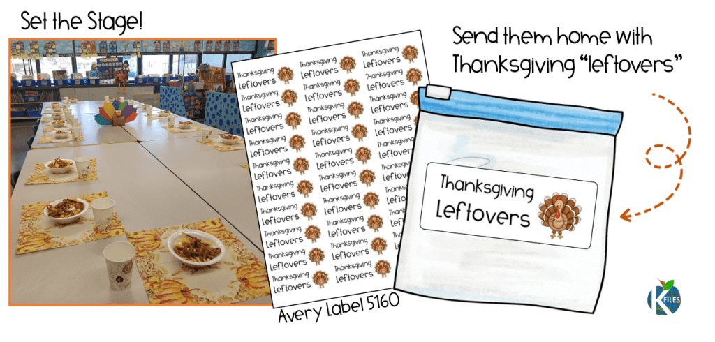 A Thanksgiving feast idea for your classroom that tells the story of the first thanksgiving. This chex mix recipe will help your students visualize the first Thanksgiving.