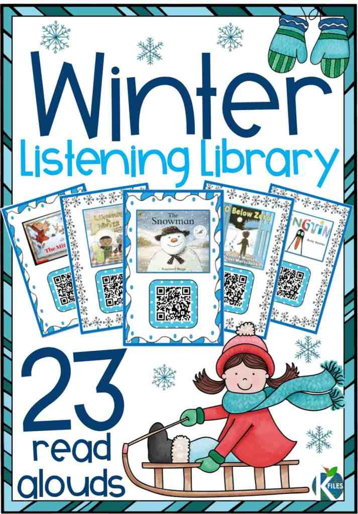 If you are looking for winter read alouds for your listening center or even during your Shared Reading or Reader's Workshop, this is the resource for you! 21 winter stories filtered through SafeShare.tv so they are free of ads and inappropriate content! #teacherwin #firstgrade
