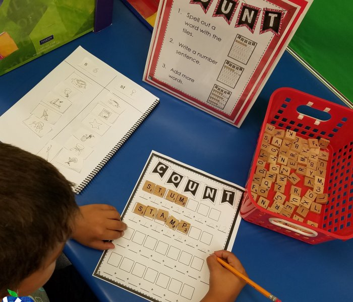 Independent Word Study Centers