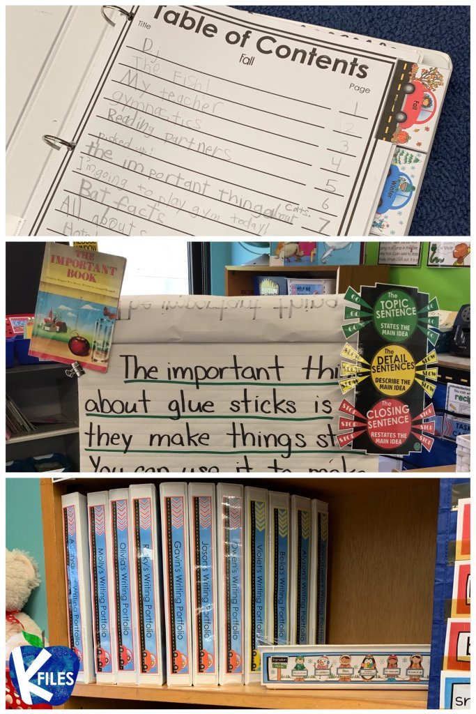 Love the organization of this writing center. This Writers Workshop bulletin board idea will have your students writing paragraphs in no time. If you are looking for writers workshop anchor charts and activities that will foster independence then check out these writing workshop ideas. #writersworkshop #firstgrade